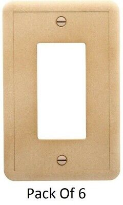 Pack Of 6 Hampton Bay 882545 Wall Plate  Noche Natural Stone Finish Cast Stone
