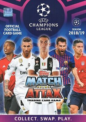 Champions League Match Attax 2018 2019 18 19 50 or 100 different cards - Joblot