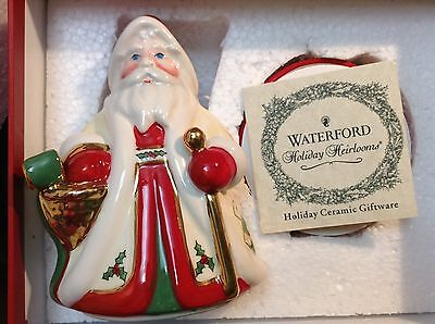 WATERFORD Holiday Heirlooms Jolly Santa Filled Candle Box Porcelain NIB