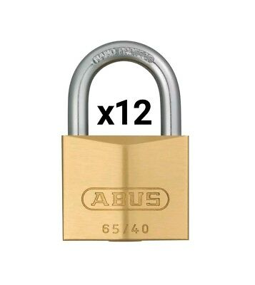 12x ABUS KA6406  65/40 40mm Brass Padlocks Keyed alike 6406
