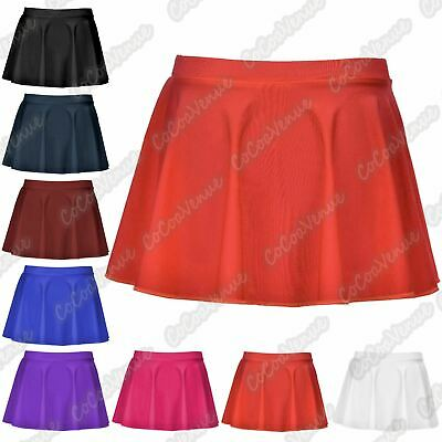 New Kids Girls Nylon Lycra Ballet Dance Tap Jazz Gymnastic Circular Skater Skirt