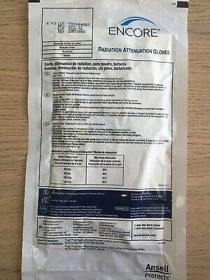 ANSELL 20873065 Encore Radiation Attenuation gloves (Lot of 5)