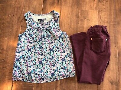 Girls two piece top blouse 7/8 and the Vigoss pants Size 7