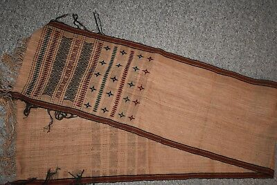 ORIG $699 NAGALAND WOVEN TEXTILE 6 FOOT EARLY 1900S prov