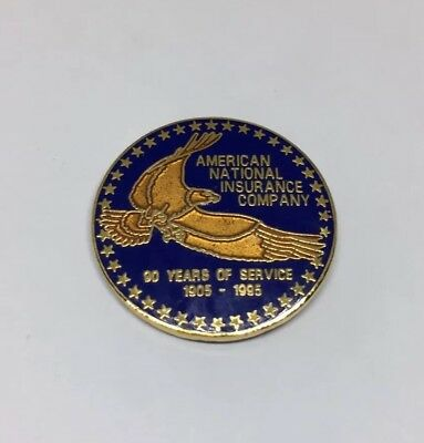 American National Insurance Company Eagle 90 Years Service 1905-1995 Pin Lapel