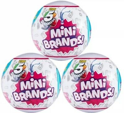 ✨5 SURPRISE MINI BRANDS Lot of 3 ZURU! NEW Sealed Balls In Hand & Ready To Ship✨