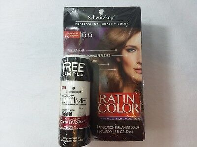 9f6fd64a48 3 X SCHWARZKOPF Keratin Color Professional color Cashmere Brown 5.5 ...