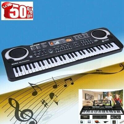 Details about   61 Keys Digital Music Electronic Keyboard Electric Piano Organ