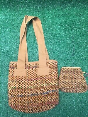 9b9d7a0d3f Hippie Repurposed Carpet Bag Purse Tote With Coin Wallet To Match Boho  Hipster