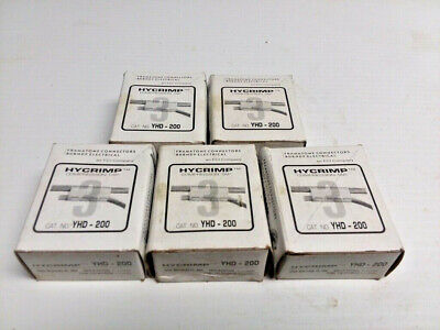 (Lot of 5) NEW IN BOX BURNDY YHD-200 HYCRIMP 1087