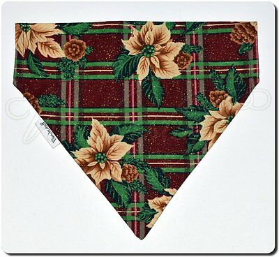 Dog Bandana Scarf - Over the Collar Style, Reversible, Christmas Design, X-Small