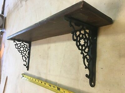 Antique Cast Iron Victorian Shelf And Brackets (fine Filigree pattern )