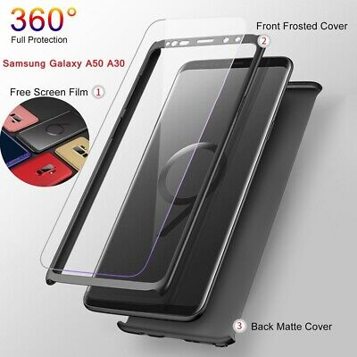 For Samsung Galaxy A50 A30 Luxury 360° Full Cover Phone Ultra Slim Matte Case
