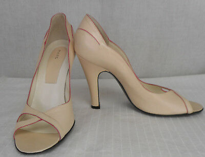 0d8d22e038ab Marc Jacobs Light Pink Leather Rose Leather Trim Peep Toe Pumps 7.5 M Enjoy