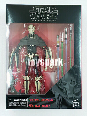 "In Hand HASBRO STAR WARS Black Series 6"" inch GENERAL GRIEVOUS action figure"