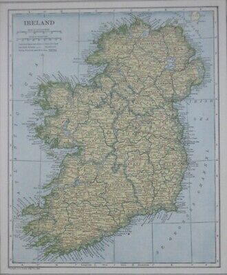 Original 1921 Map IRELAND EIRE Pre-Partition Irish Free State Dublin Londonderry