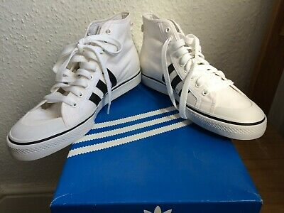 authorized site brand new the best ADIDAS ORIGINALS NIZZA Hi-Top White/Black UK10 New In Box ...