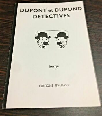 Tintin Dupont Et Dupond Dectectives Parodie 30X20 Hommage Herge