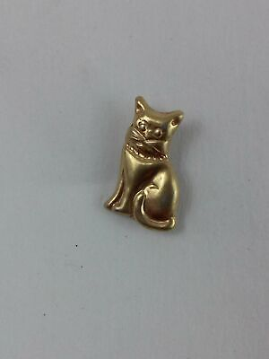Cat Lapel Pin Grey Tiger