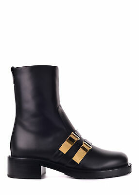 9893be1b3 DIOR WOMENS BLACK Leather D-Race Ankle Boots Size IT36 US6~RTL 1840 ...