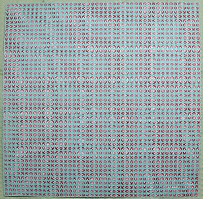 """Blotter Art Untitled on off button New Format 2,025 on 7 1/2"""" square Rafti"""