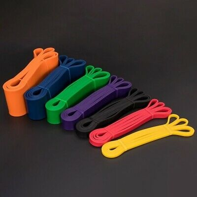 Latex Resistance Bands Assisted Pull Up Power Exercise Stretching Gym Fitness UK