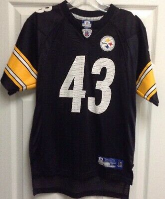 159908c4f Reebok Pittsburgh Steelers Troy Polamalu  43 Jersey Youth L 14-16 NFL  Throwback