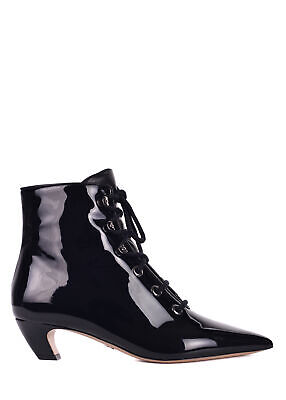 56c8159fa Dior Women s Black Patent Pony-Style Calfskin Ankle Boots Size IT36 US6~RTL