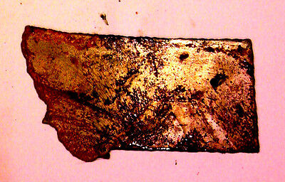 6 Inch MONTANA State Shape Rough Rusty Metal Vintage Stencil Ornament Magnet