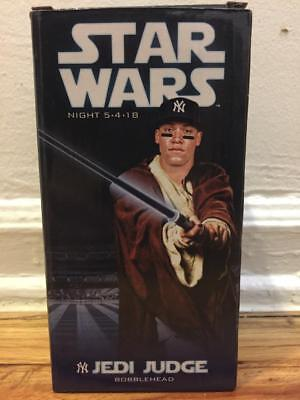 Aaron Judge New York Yankees Bobblehead Figurine Sga 5/4/2018 Star Wars Jedi