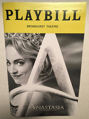 Anastasia Playbill Christy Altomare Cody Simpson John Bolton Feb 2019 Theater