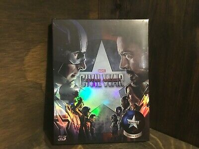 Captain America: Civil War - NovaMedia Blu Ray Steelbook (3D+2D) A #129/700