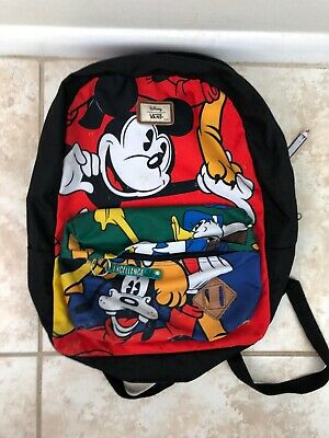 580a039a5fa Vans Off The Wall Old Skool II Disney Mickey Mouse   Friends Backpack Bag  Rare