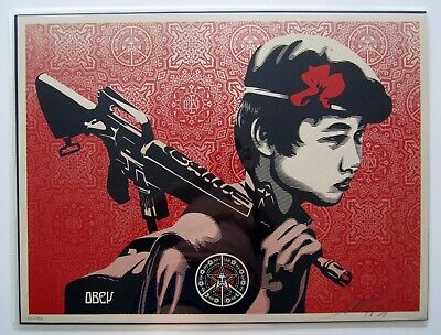 Duality Of Humanity 2 : Signed + Numbered Screen Print : Obey : Shepard Fairey