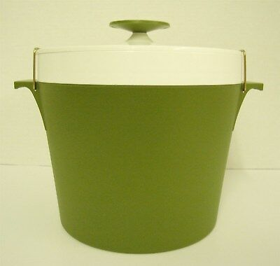 Therm Ware Ice Bucket by David Douglas Mid Century Modern Plastic Avocado Green