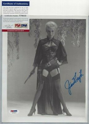 "Janet Leigh Autographed 8x10 Photo Hollywood Film Actress ""Psycho"" PSA COA"