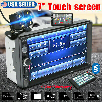 "Car Stereo Radio Double 2 DIN 7"" HD 1080P MP5 MP3 FM Player Touch Screen In-Dash"