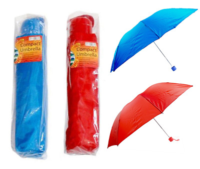 Unisex Lightweight Portable Compact Umbrella Brolly Choose Colour - Blue, Red