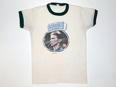 Vintage Original David Bowie On Stage Tour shirt 1976 Rare Not Iron On