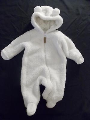 fa98ac00a Carters Baby Boy Girl 3M White SUPER FLUFFY Sherpa Snowsuit Pram Bunting 3  Month
