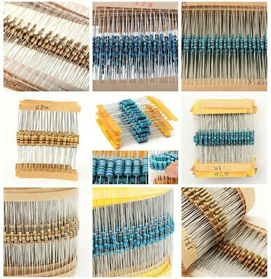 3120pcs Metal Film Resistor Assortment Kit Set 1 ohm~10M ohm Choose Values