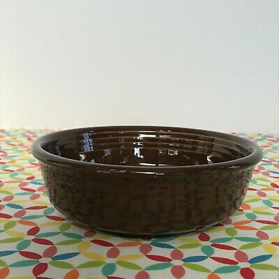 Fiestaware Chocolate Small Bowl Fiesta Retired Brown 14 oz Cereal Bowl