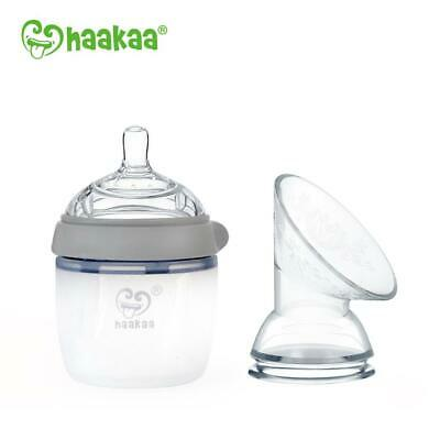 Haakaa Generation 3 Silicone Baby Bottle and Pump Flange Combo Award Winning