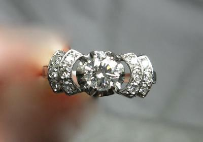 7CT G VS Art Deco Diamond Engagement Ring Appraised Wedding Victorian