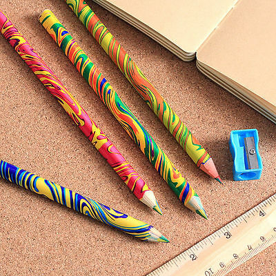 4PCS Mixed Colored Pencil Rainbow Drawing Sketch Set are