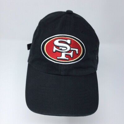 7d90d3b21db20 San Francisco 49ers 47 Brand Strapback Hat Black Adjustable NFL Football Dad