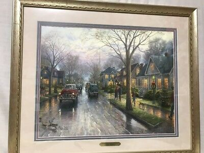 8e73ca7e08a Thomas Kinkade Limited Edition Print Hometown Christmas 1 240 1000 H E 16""