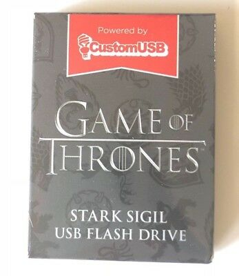 Game of Thrones Stark Sigil 4gb USB thumb flash drive HBO Arya direwolf