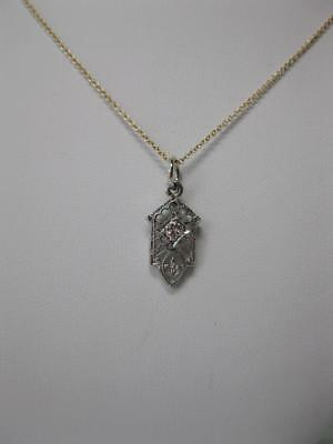 Diamond Lavaliere Art Deco Necklace Edwardian White Gold Wedding Victorian