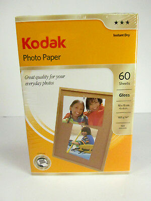 Kodak Photo Paper Instant Dry Gloss 4x6 in. 60 Sheets Unopened Package    (1894)